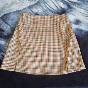 Plaid Brown Skirt